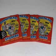 1986 Garbage Pail Kids Stickers Os6 4 Sealed Hobby Wax Packs Topps Stickers