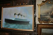 Large Titanic Oil Painting Absolutely Stunning