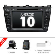 Cam+obd+carplay+android 10 8 Car Gps System Dvd Stereo Bt For Mazda 6 2011 2012