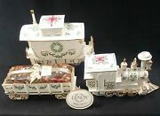 Lenox Holiday Christmas Junction Engine Caboose And Wagon Centerpiece