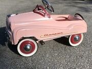 murray Champion Pink Pedal Car By Gearbox Mid 80's