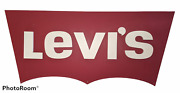 Large Levi's Jeans Wall Decor Man Cave Commercial Wood Advertising Sign 40 X 17