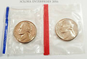 1962 P And D Jefferson Nickel Set 2 Coins Mint Cello Free Shipping