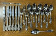 Oneida Wm A Rogers Deluxe Gloria Montclair Stainless Forks Knives Spoons 20