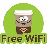 Free Wifi 48 Concession Decal Sign Cart Trailer Stand Sticker Equipment