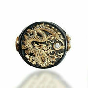 Two Tone Punk Mens Animal Lion Head Ring Hip Hop Biker Ring Party Jewelry Gift
