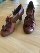 Anthropologie Miss Albright Bouquet Of Roses Heels/ Shoes Size 9 Nwob