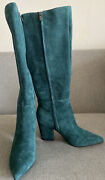 Never Worn Nine West Green Suede Boots Sz 6.5. Details In Pics. Free Shipping