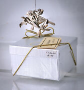 Harry Smith Chickadee In Holly Sterling Silver Christmas Ornament
