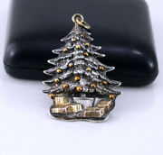 Buccellati 1989 Christmas Tree Sterling Silver Christmas Ornament Hard To Find