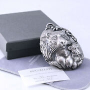 Buccellati Endangered Series, Tiger Sterling Silver Christmas Ornament With Rare