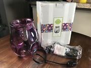 Scentsy Bubbled - Ultraviolet Warmer Purple - New In Dented Box