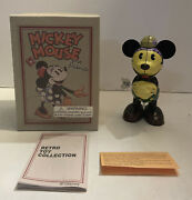 Schylling/young Epoch Disney Wind-up Minnie Mouse 60070 Retro Tin Toy W/box