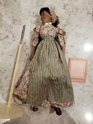 Franklin Mint Gone With The Wind Porcelain Prissy Doll 18 With Stand B4