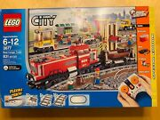 New 3677 Lego City Red Cargo Train Tracks Power Functions Building Toy Retired