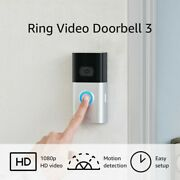 Ring Video Doorbell 3 Enhanced Wifi, Improved Motion Detection Easy Installation