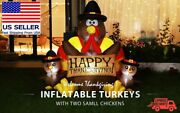 Inflatable Thanksgiving Turkey Family Lighted Outdoor Yard Blowup Decoration 6ft