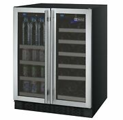 Allavino 24 Wide Flexcount Ii Tru-vino 18 Bottle/66 Cans Dual Zone Stainless St