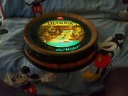 Vintage 1982 Olympia Beer Its The Water Barrel Light Motion Waterfall Sign Rare