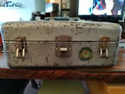 """Vintage 1951 Union Watertite Steel Chest / Fishing Tackle Tool Box 14x7x5.5"""""""