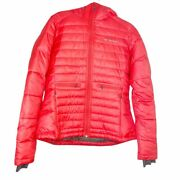 Columbia Womenand039s Fire Lily Omni-shield Zip Up Hooded Puffer Jacket M