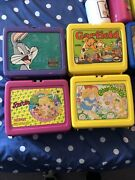 Vintage 1970and039s To 1990 Plastic By Thermos Aladdin 5 Lunch Boxes And 5 Thermoses