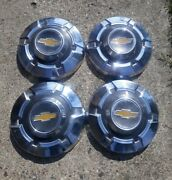 4 Four 69-75 Chevy 3/4 Ton Truck Dog Dish Hubcaps Driver Condition 12 C20 C30