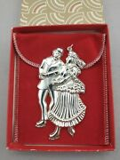 1983 American Heritage Sterling Silver Skaters Christmas Ornament New, Mint, Box