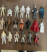 Lot Of Vintage 1970s-1980s Star Wars 3.75 Scale Figures/vehicles Kenner