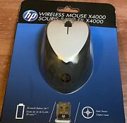 Hp X4000 Wireless Mouse With Laser Sensor | Black/white - New And Sealed