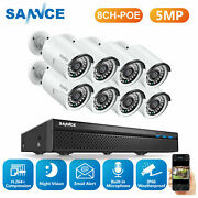 Sannce 5mp Poe Outdoor Security Camera System 8ch Nvr Audio Recording Ip Network
