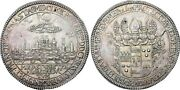Munster 1 Thaler 1661 Aunc-unc Silver Coin City View Germany Taler German State