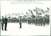 1972 Wirephoto Military Spiro Agnew William Westmoreland Ft Campbell Ky 7x9