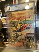 Amazing Spider-man 14 Cgc 0.5 Cream To Ow - 1st Appearance Of Green Goblin