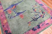 Antique Chinese Art Deco Rug Size 6and039x8and0396and039and039