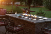 Empire 48 Outdoor Linear Fire Pit Kit Electronic Ignition And Led Lights - Ng