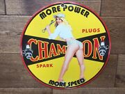 Vintage Champion Spark Plugs Porcelain Sign Gas And Oil Gas Station Sign 12andrdquo