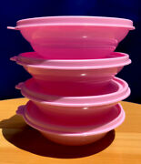Tupperware Microwave Reheatable Small Cereal Bowls 275ml Set Of 4 - Pink