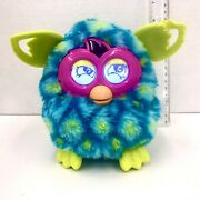 Furby Boom 2012 Blue And Green Peacock Chewed Ear Tested Working Hasboro Pet Toy
