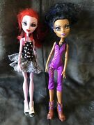 Monster High Doll Lot Of 2 - Operetta And Rebecca Steam, Loose Toy Figures
