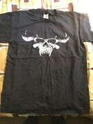 Danzig 1996 Black Classic Skull Double Sided Tee Shirt Vintage Large