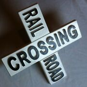 Rail Road Crossing 3d Routed Carved Wood Sign Plaque Custom