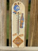 1930and039s Orange Crush Soda Advertising Thermometer Working. Accurate