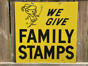 Family Stamps Sign We Give Family Stamps Food Stamps Advertising