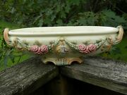 Weller Pottery Roma Console Or Centerpiece Bowl Roses 16 In