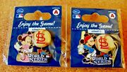2013 Ws World Series St. Louis Cardinals Mickey And Minnie Mouse Disney Pins Pin