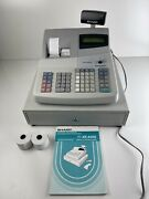 Sharp Xe-a402 Electronic Cash Register W/4 Keys Tested Works Perfect
