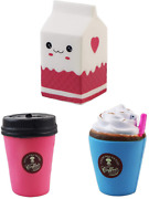 Aqueens 3pack Cups Squishies Slow Rising Jumbo Kawaii Sweet Scented Stress Relie