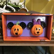 Mickey And Minnie Mouse Halloween Pumpkin Salt And Pepper Shakers - Halloween 🎃