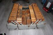 Antique Wood Tackle Box , Hand Made ,1935